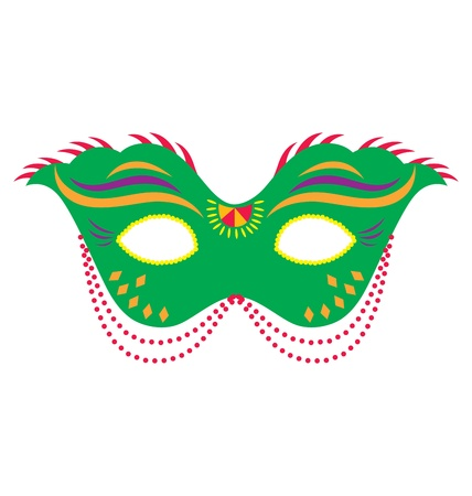 mardi gras: A mardi gras mask, illustrated with striking colors and shapes.