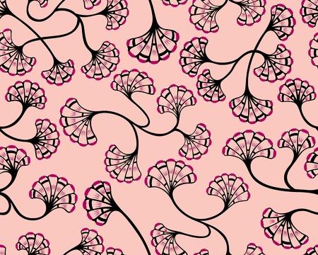 esporas: Un dise�o sin fisuras patr�n de flores repartidos por esporas, que se ilustra con un estilo contempor�neo.