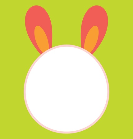 A big empty bunny head template that is great to be use as invitation for easter celebration. Stock Vector - 17932645