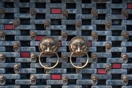 traditinal: tradtional door decoration in Chengdu, China Editorial