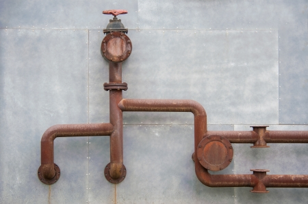 old pipes on the wall