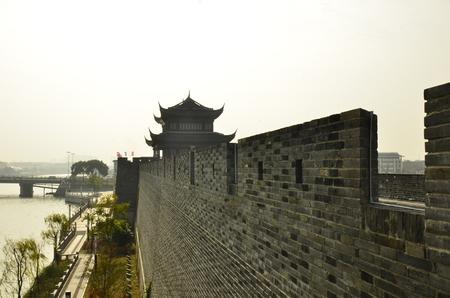 moat wall: China Suzhou ancient city wall gates