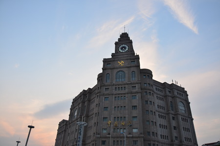 customs: The customs building under the setting sun at Suzhou,China.