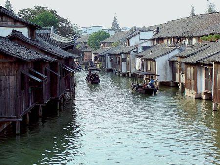 Jiangnan Water Village Wuzhen Landschaft ist sehr charmant, mit endlosen Charme.