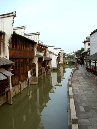 Jiangnan Water Village Wuzhen scenery is very charming, with endless charm. Stock Photo