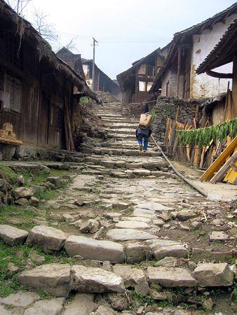 Ancient Sichuan Shudao dem kleinen Dorf.