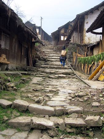 Ancient Sichuan Shudao the small village. Stock Photo - 4830667