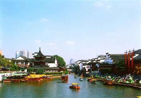 Qin-Huai-Flusses in Nanjing Lizenzfreie Bilder
