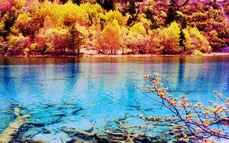 Jiuzhaigou Landschaft