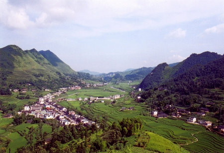 south sichuan: Mountain scenery