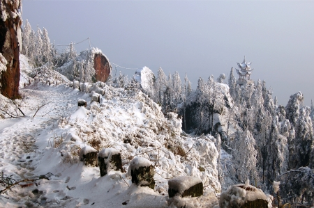 south sichuan: Early spring snow