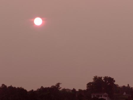 provincial tourist area: DanShan sunset