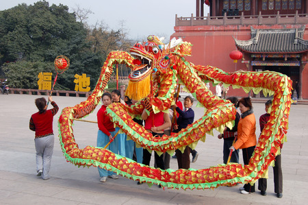ancient dragon dance Editorial