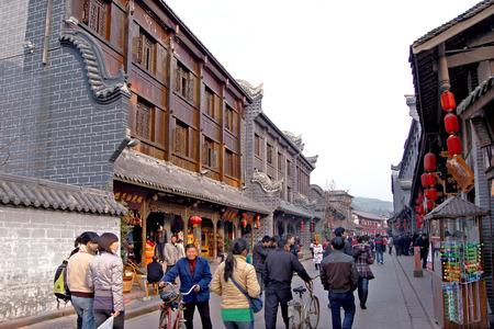 visitors area: town at guzhen, China
