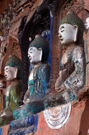 Cliff stone carvings in ancient China