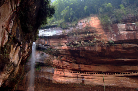 landform: Danxia landform scenery