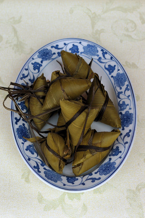 The Chinese rice dumplings Stock Photo