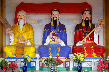 Sichuan Taoist temple sculpture Stock Photo