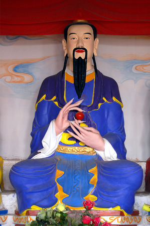 Sichuan Taoist temple sculpture Stock Photo