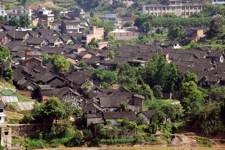xuyong: Sichuan folk houses Stock Photo