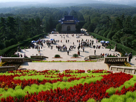 Sun Yat-sen Mausoleum  at Nanjing Stock Photo