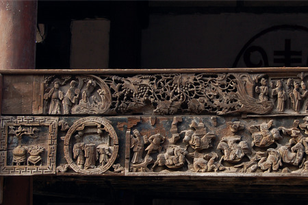 woodcarving: Ancient woodcarving