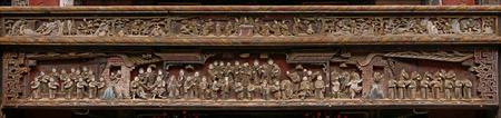 tallado en madera: Talla de madera antigua