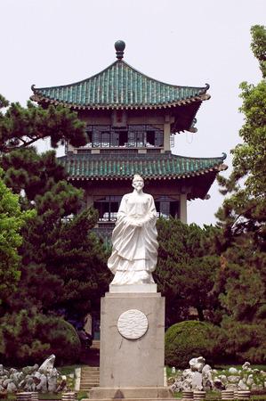 wuhan: Sculpture at Wuhan east lake