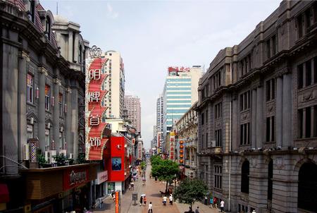Eine Stra�e in Wuhan