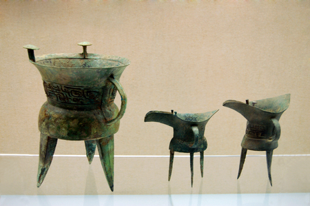 The ancient Chinese bronze ware Editorial