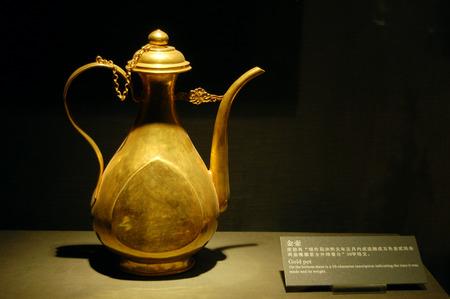Die alten chinesischen goldenen Topf