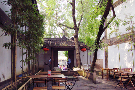 architectural building: Ancient architectural building in Chengdu