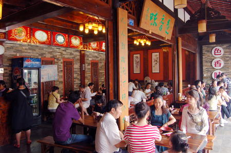 architectural style: Ancient architectural style restaurant