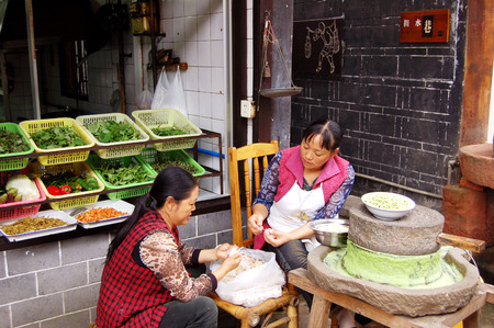 hawker: Huanglongxi ancient town hawker stall