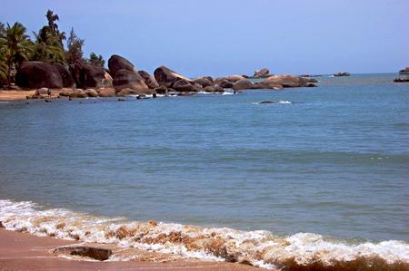 turismo ecologico: La naturaleza vista paisaje del lado de la playa Foto de archivo