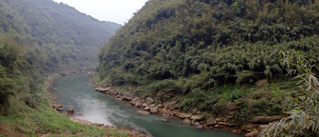 south sichuan: Natural scenery of a gorge  Stock Photo