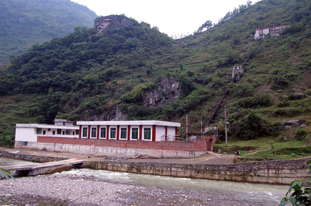 south sichuan: Hydropower station on the mountain