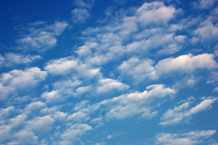 south sichuan: Blue sky and white clouds Stock Photo