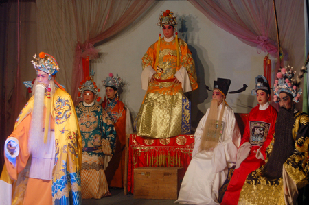 folk customs: Chinese stage performance  Editorial