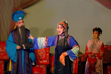 Traditional stage performance