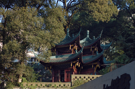 Landscape view of an ancient architectural style building