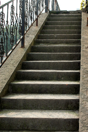 south sichuan: Stone steps Stock Photo