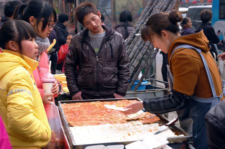 south sichuan: Street snacks Editorial