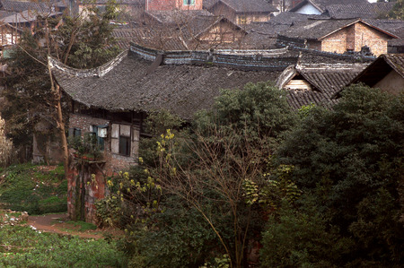 correlation: Sichuan ancient buildings Stock Photo