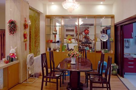 diningroom: Dining-room and kitchen interior