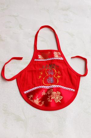 ethnic customs: chinese baby apron bib