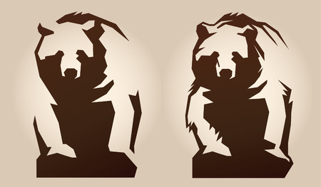 grizzly: Bear. Schematically, generalized Illustration.