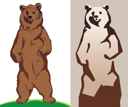 grizzly: Ours. Schématiquement, généralisée Illustration.
