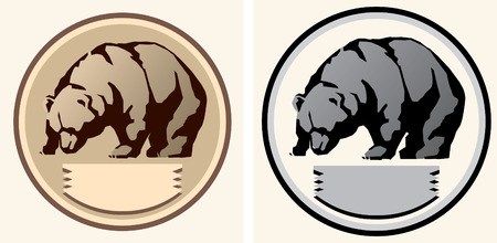 Bear schematic Illustration.