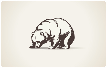 Bear, schematic illustration.